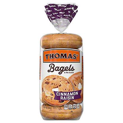 Thomas' Cinnamon Raisin Pre-Sliced Bagels, 6 ct