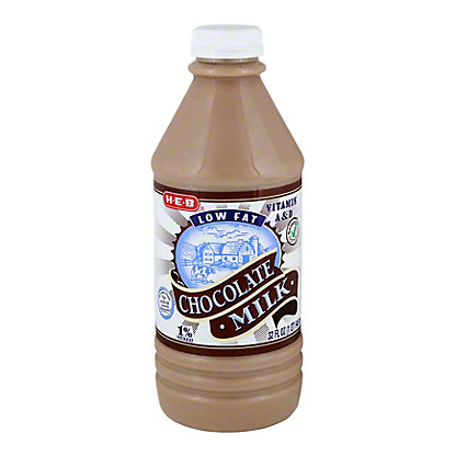 H-E-B Low Fat Chocolate 1% Milkfat Milk,1 QT