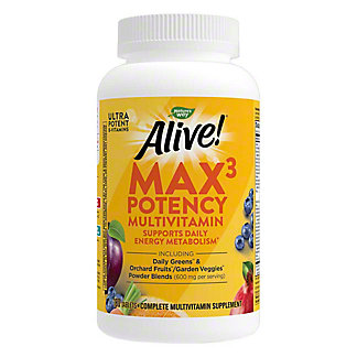 Nature's Way Alive! Multi-Vitamin Max Potency Tablets, 180 ct