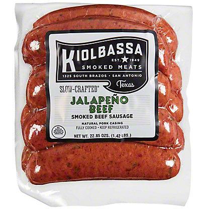Kiolbassa Jalapeno Beef Smoked Sausage Links Small Pack