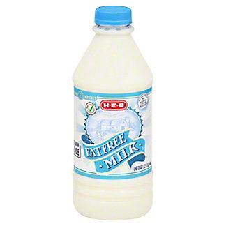 H-E-B Select Ingredients Fat Free Milk,1 QT