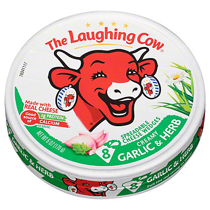 The Laughing Cow Light Garlic Herb Wedges, 6 oz