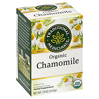 Traditional Medicinals Organic Chamomile Caffeine Free Herbal Tea, 16 ct