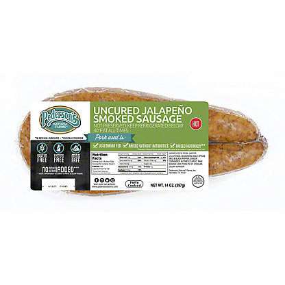 Pederson's Uncured Jalapeno Smoked Sausage,14 OZ
