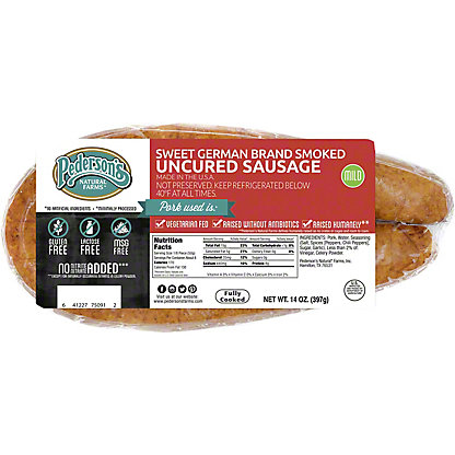 Pederson's Uncured Sweet German Smoked Sausage,14 OZ