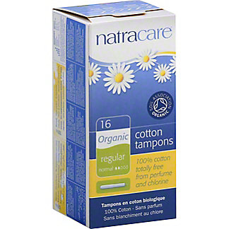 Natracare Regular with Applicator Organic All Cotton Tampons,16 CT