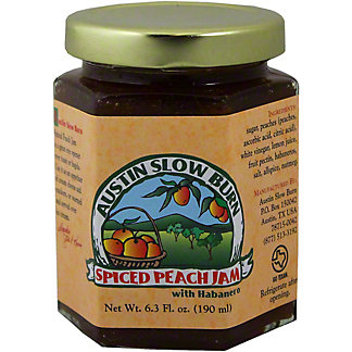 Austin Slow Burn Spiced Peach Jam,6.3 OZ