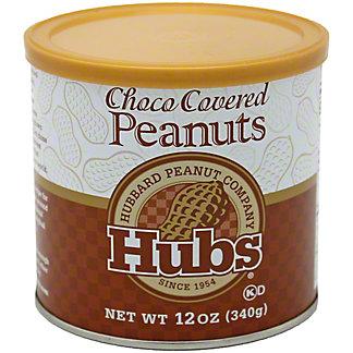Hubs Chocolate Covered Peanuts, 12 oz