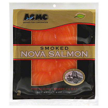 Acme Smoked Nova Salmon,4 OZ