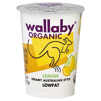 Wallaby Organic Low Fat Lemon Yogurt,6 OZ