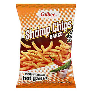 Calbee Hot Garlic Baked Shrimp Flavored Chips,3.3 OZ