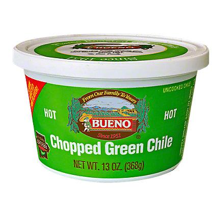 Bueno Chopped Hot Green Chile,13 OZ