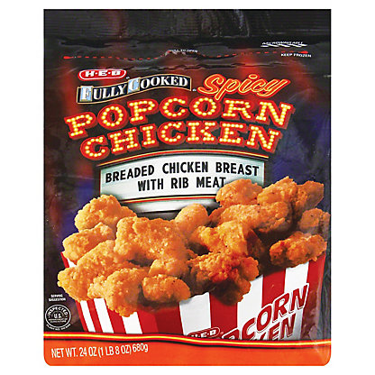 H-E-B Fully Cooked Spicy Popcorn Chicken, 24 oz