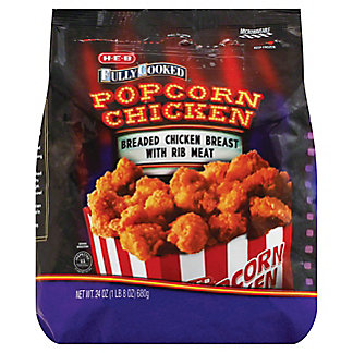 H-E-B Fully Cooked Popcorn Chicken, 24 oz