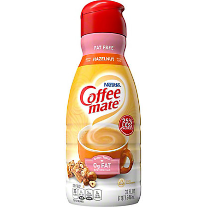 Nestle Coffee-Mate Fat Free Hazelnut Coffee Creamer,32 oz