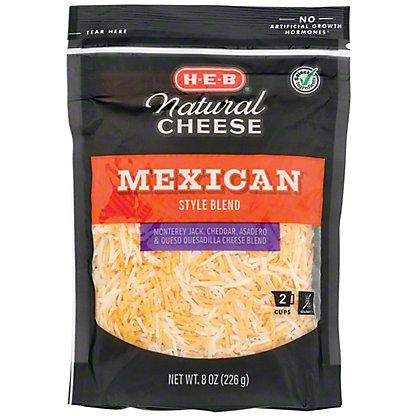 H-E-B Mexican Blend Fancy Shredded Cheese,8 OZ