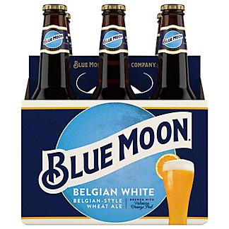 Blue Moon Belgian White Ale 6 PK Bottles,12 oz