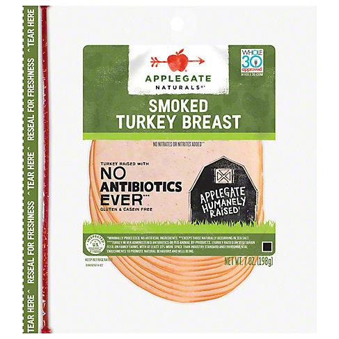 Applegate Smoked Turkey Breast, 7 OZ