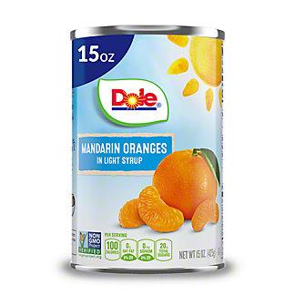 Dole Mandarin Oranges in Light Syrup, 15 oz