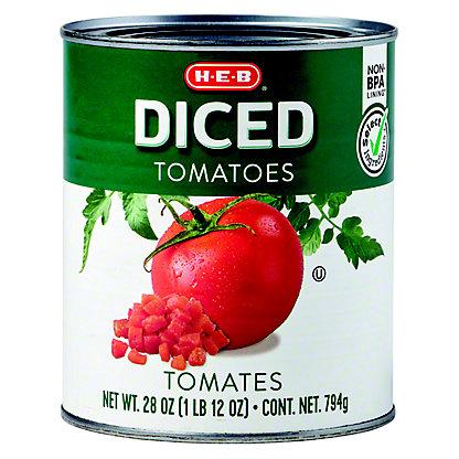 H-E-B Diced Tomatoes,28 OZ