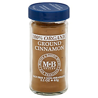 Morton & Bassett 100% Organic Ground Cinnamon,2.2 OZ