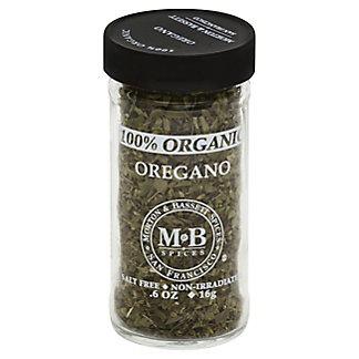 Morton & Bassett 100% Organic Oregano,0.6 OZ
