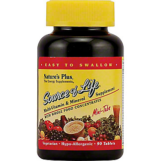 Nature's Plus Source Of Life Whole Life Energy Enhnacer With Lutein Mini Tabs, 90 ct