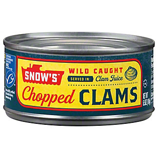 Snow's Chopped Clams in Clam Juice,6.5 OZ