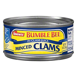 Snow's Minced Clams in Clam Juice, 6.50 oz