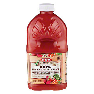 H-E-B Select Ingredients 100% Spicy Vegetable Juice, 46 oz