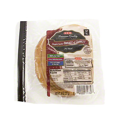 H-E-B Mesquite Smoked Breast of Turkey Slices,8 OZ