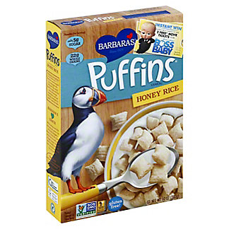 Barbara's Honey Rice Puffins Cereal, 10 oz