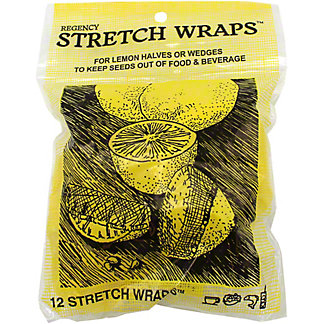 STRETCH WRAP 4 LEMON WEDGES