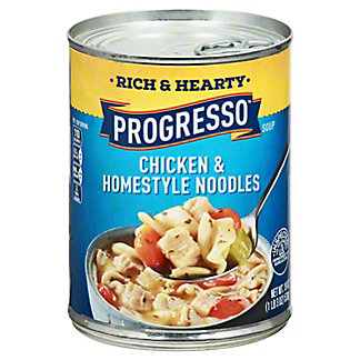 Progresso Rich & Hearty Chicken & Homestyle Noodles Soup,19 OZ