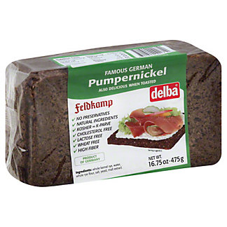 Delba Pumpernickel Bread, 16.75 oz