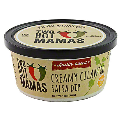 Two Hot Mamas Creamy Cilantro Salsa Dip, 12 OZ