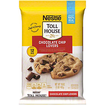 Nestle Toll House Ultimates Cookie Dough, Chocolate Chip Lovers,12 CT