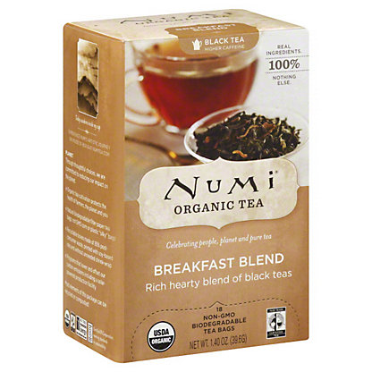Numi Organic Tea Breakfast Blend Tea Bags, 18 CT