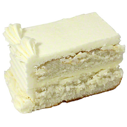 Central Market White Cake Slice, 4.5 oz