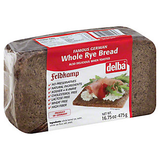 Delba Whole Rye Bread,16.75 OZ