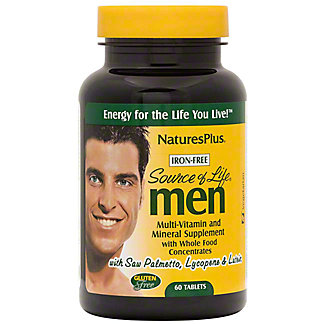 Nature's Plus Source of Life Vitamins for Men, 60 CNT