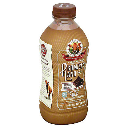 Promised Land Midnight Chocolate Reduced Fat 2% Milk, 28 oz
