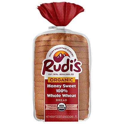 Rudi's Organic Bakery Honey Sweet Whole Wheat Bread, 22 oz