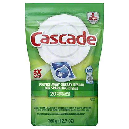 Cascade Fresh Scent ActionPacs Dishwasher Detergent, 20 ct