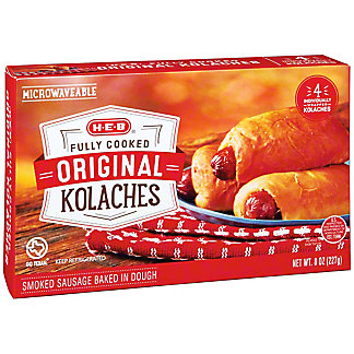 H-E-B Fully Cooked Sausage Kolaches, 4 ct