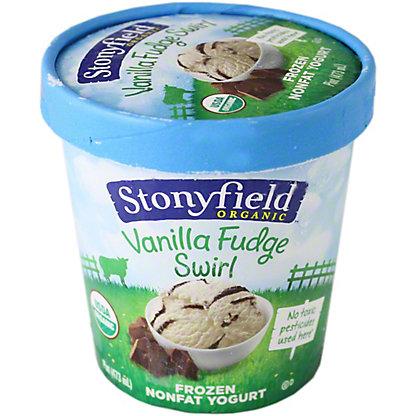 Stonyfield Farm Organic Frozen Yogurt Vanilla Fudge Swirl 0G2, 1.00 pt