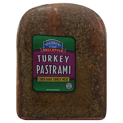 Hill Country Fare Deli Style Turkey Pastrami, lb