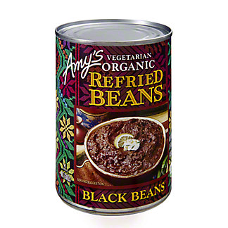 Amys Vegetarian Organic Refried Black Beans, 15.40 oz