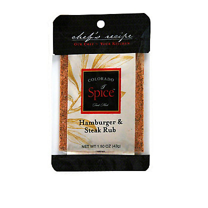 Colorado Spice Chef's Recipe Colorado Spice Hamburger and Steak Seasoning,1.50 oz