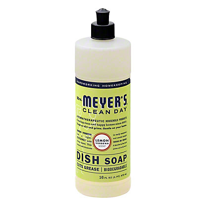 Mrs. Meyer's Clean Day Lemon Verbena Scent Liquid Dish Soap, 16 oz